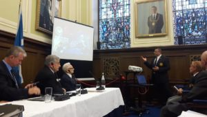 Mr Chris Galea During the Presentation held in Dundee, Scotland